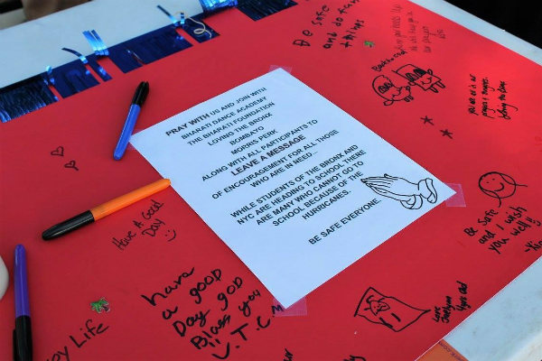 Messages from Bronx children to kids in Florida and Texas affected by the hurricanes.