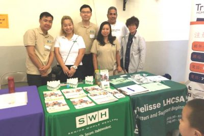 The LWS Homecare and Senior Whole Health teams pose together.