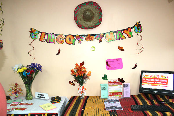 Cinco de Mayo decorations at the Dennelisse LHCSA offices in the Bronx, NY.