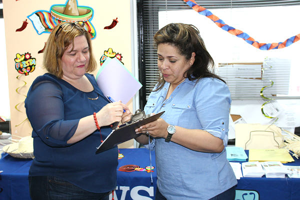 The LWS Homecare HR Department takes the information of a guest applying to work as a home health aide.
