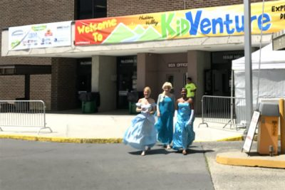 Princesses get ready to greet the guests at Hudson Valley KidVenture.